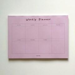 Pink brown weekly planner