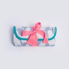 [율그란] 오가닉 휴대용 기저귀매트 오울스 스카이