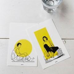 서울민 THE SITTING PEOPLE postcard