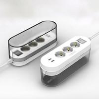 네모박스 3구2포트 USB 멀티탭 정리함
