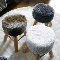 아리아퍼니쳐 퍼 우든 스툴 인테리어 의자 3color_(564354)