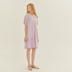 FRILL JERSEY DRESS (LAVENDER)