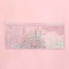 Pinky holic clear pouch_P_6.Glitter_Milky way