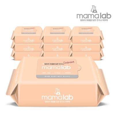 [마마랩] 아기물티슈 인텐시브 72매 10팩 리필형