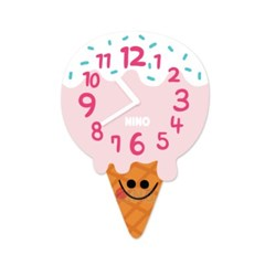 니노타임 무소음 아크릴 벽시계 (아이스크림 대)