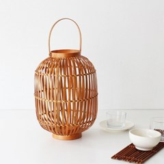bamboo candle holder(일자형)