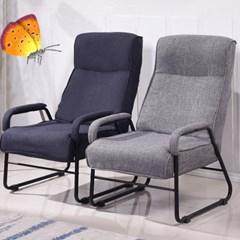 패브릭 안락 의자 1인용 목 조절 가능 코지 소파 011