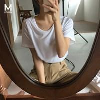 [MADE] 모어 베이직 U넥 반팔티 (4color)