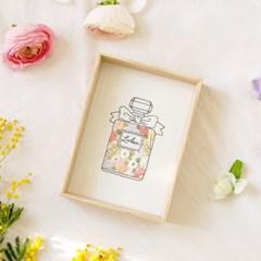 hobbyful 프랑스자수 꽃 향수 액자 만들기 온라인 취미 클래스 키트