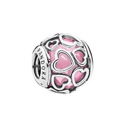 PANDORA 판도라 792036PCZ Encased in Love Pink Charm_(820540)
