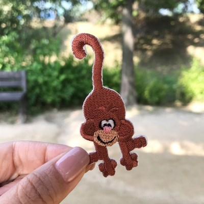 귀여운 원숭이 와펜스티커