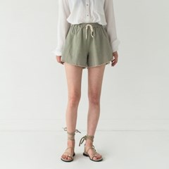 oblique stroke banding shorts