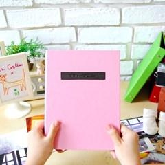 THE MOMENT 접착식앨범X스크랩북 바인딩 포토앨범-베이비핑크