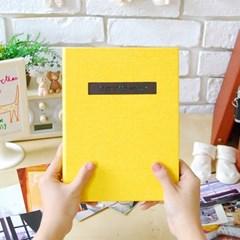 THE MOMENT 접착식앨범X스크랩북 바인딩 포토앨범-옐로우