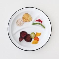 enamel series] plate (2size) -black