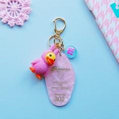 토이 키링-핑크 리조트키(핑크덕)
