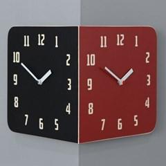 모던 레트로 라운드 코너 양면시계