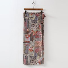 Paisley Wrap Long Skirt