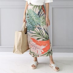 Lotus Leaf Wrap Long Skirt