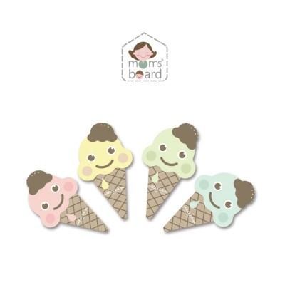 [맘스보드]아이스크림지우개4종 / 유아 자석 칠판 화이트
