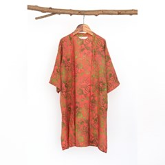 [Kids Robe] Vintage garden - Coral