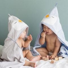 허그파파 펭귄 아기 후드 목욕 타올