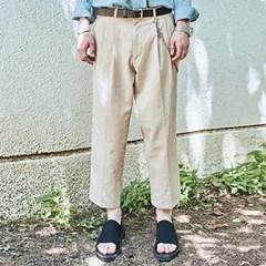 CROP WIDE TAPERED-FIT PANTS_BEIGE