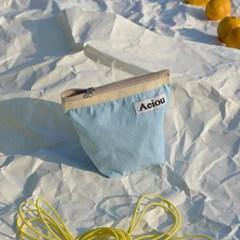 Aeiou Basic Pouch / baby blue