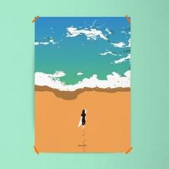 유니크 인테리어 디자인 포스터 M 고 서핑2