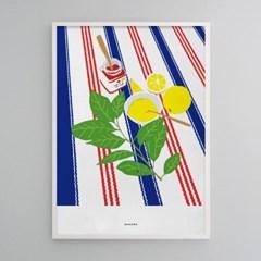 유니크 인테리어 디자인 포스터 M 레몬잼과 딸기잼