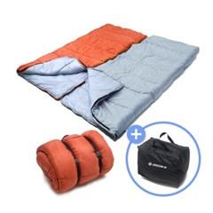 [그린비] 할로파이버 결합형 패밀리침낭2500G/수납가방