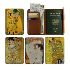 클림트의 명작 3포켓 여권지갑 (ANTI SKIMMING)