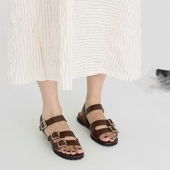 Bold buckle sandals