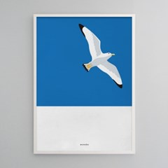 유니크 인테리어 디자인 포스터 M 갈매기