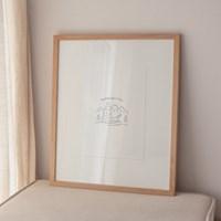 Alder Wood Frame - Large (공액자)