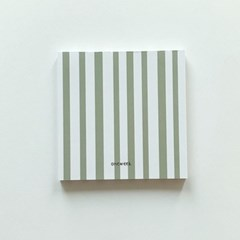 Memo pad - malcha stripes