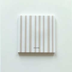 Memo pad - beige stripes