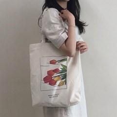 튤립 코튼백 _Tulip Drawing Bag