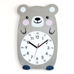 무소음 아이방 시계 동물친구들 - 곰곰이