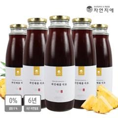 자연지애 6년 자연발효 파인애플식초(500mlx5병)