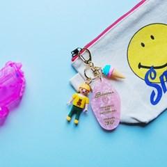 토이 키링-핑크 리조트키(아이스크림 걸)