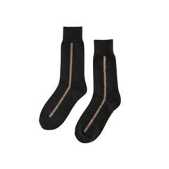 UNISEX Side Line Socks aaa078u(Black / charcoal)_(902560168)