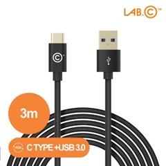 랩씨 C타입 충전 롱 케이블 USB C to USB A [3m]_(2764294)