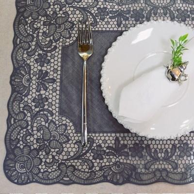 프렌치 레이스식탁매트 10장묶음