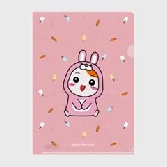에비츄 L홀더 파일 A4_핑크래빗 핑크