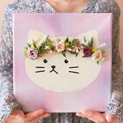 (홍대) 화관쓴 고양이액자 그리기