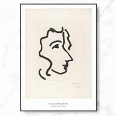 마티스 인테리어 그림 액자 포스터 나디아 프로파일_(1576469)