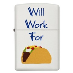 주문폭주 특별할인[ZIPPO] 29715 Will Work for Tacos_(1311481)