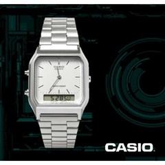 카시오 CASIO AQ-230A-7D 빈티지 디지털 메탈밴드시계