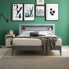 SB165-Q LED조명 컬러원목 침대+bedis101 매트리스 Q set